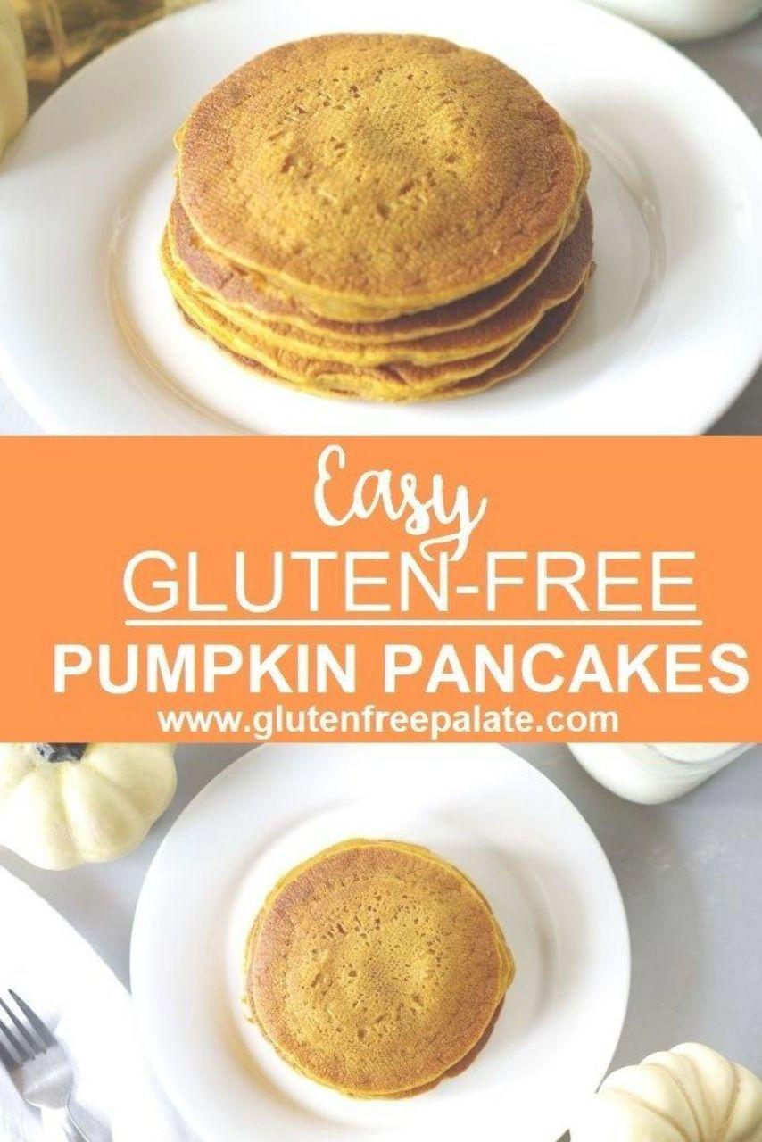 A simple recipe for gluten free pumpkin pancakes using
