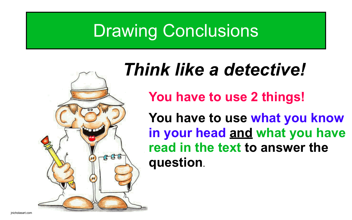 Powerpoint Reading Poster Drawing Conclusion Teach