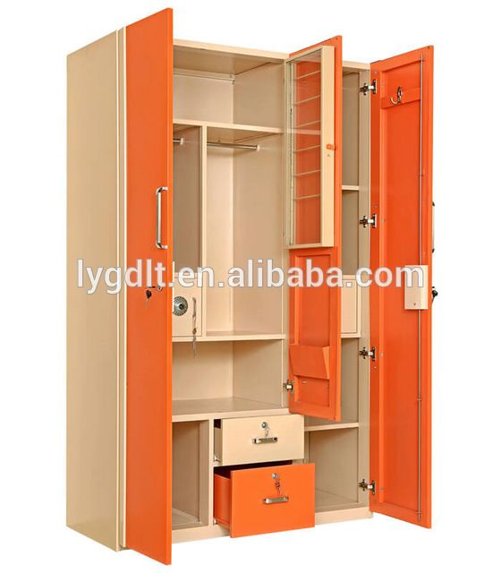 Source super deluxe 3 door godrej steel almirah design for Pics of wooden almirah