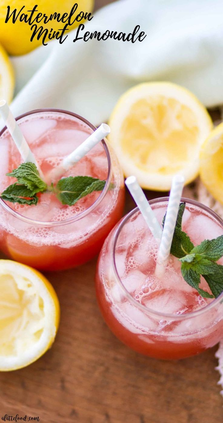 This easy Watermelon Mint Lemonade recipe is the perfect summer beverage! This homemade lemonade recipe has only 5-ingredients and is refined sugar free! #homemadelemonaderecipes