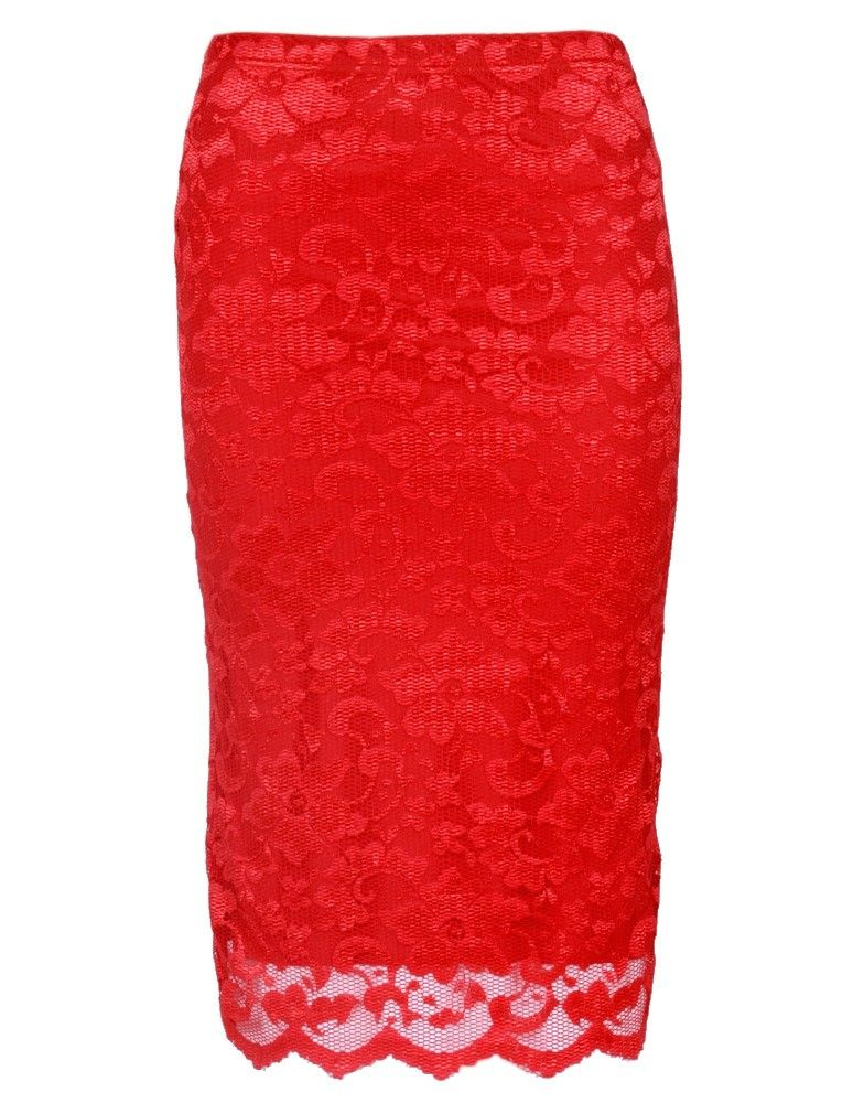 Red lace to go over my tacky red skirt | Sewing Projects ...