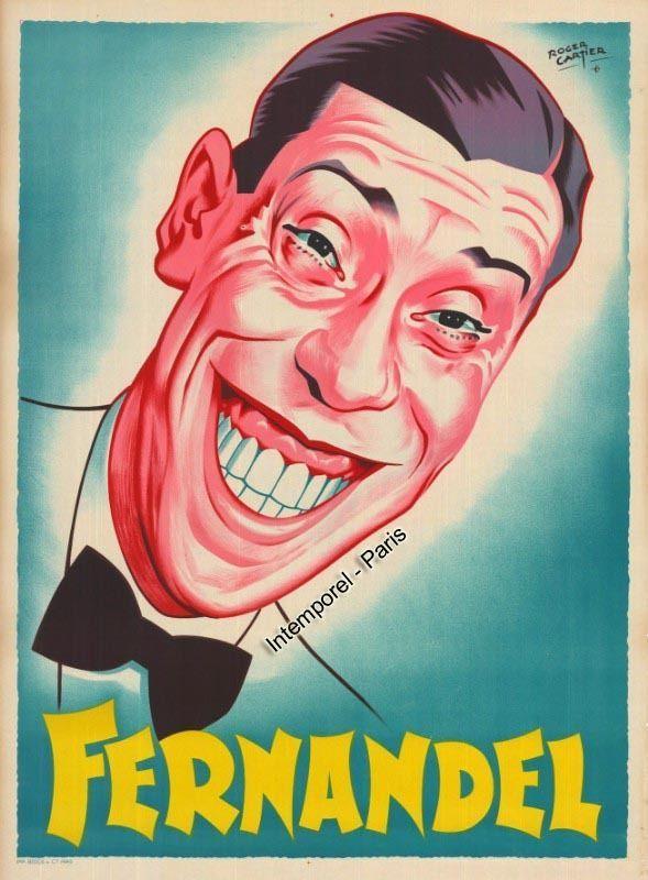 affiche FERNANDEL - PORTRAIT - FERNANDEL in DVD, cinéma, Objets de collection, Affiches, posters | eBay