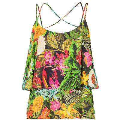 Blusa babado tropical Farm