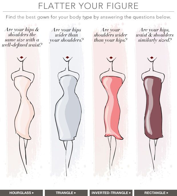 Bridesmaid dress styles for different body types