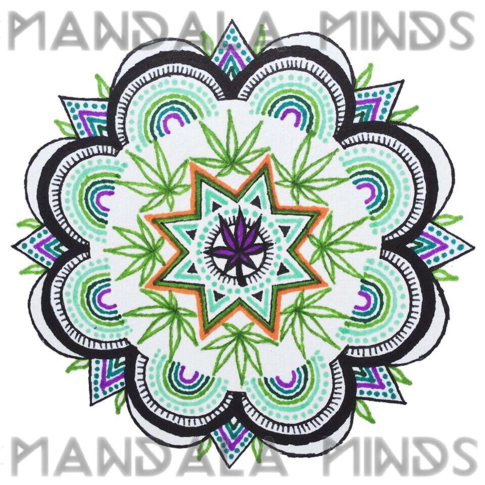 Pot Leaf Mandala Drawing by Mandala Minds  43cb070e3f1
