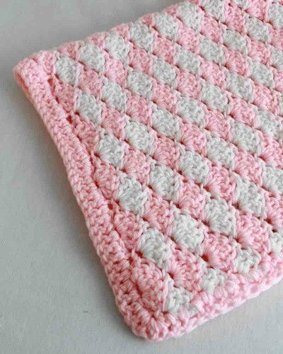 Quick And Easy Shell Bath Set Crochet Pattern Crochet Stitches Magnificent Crochet Baby Blanket Shell Pattern