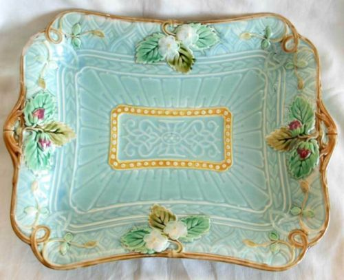 Majolica - at an auction antique sale on ebay - find it love & Antique sarreguemines france majolica plate / tray | eBay Trays and ...