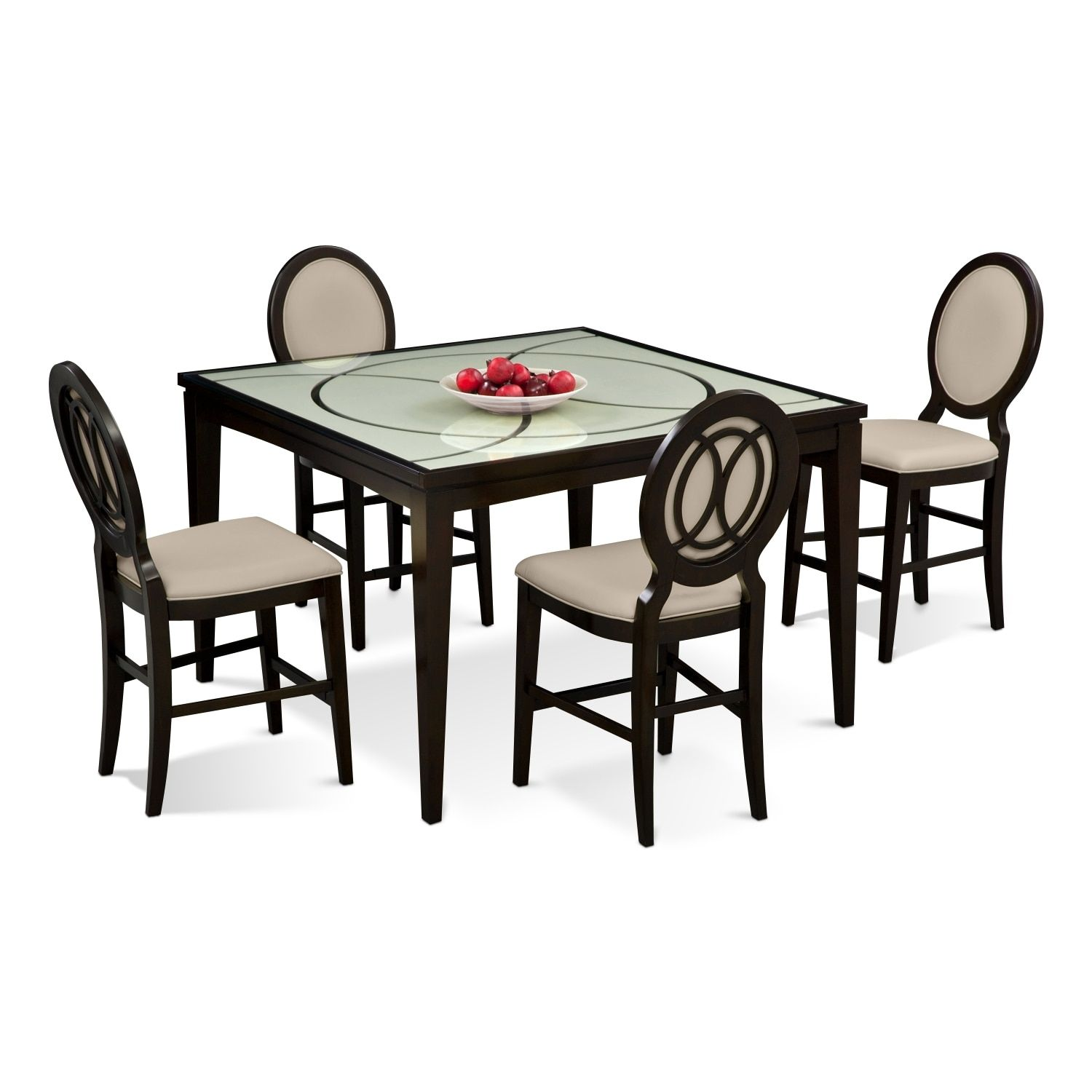 Cosmo CounterHeight Table And Chairs Merlot Products
