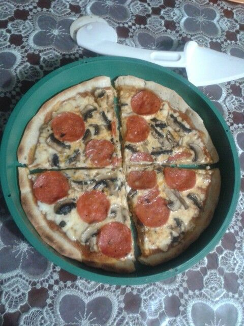 Pizza sin horno en casa