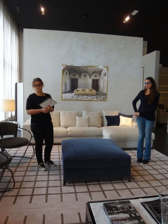 Visiting Luxury Living Showroom In Forli Ida Candidates Celine Julien Binard And Andrea Macruz