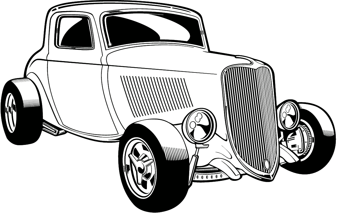 hot rod coloring page