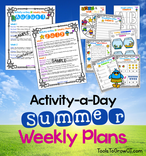 ActivityADay Summer Calendar  Weekly Plans  Summer Calendar