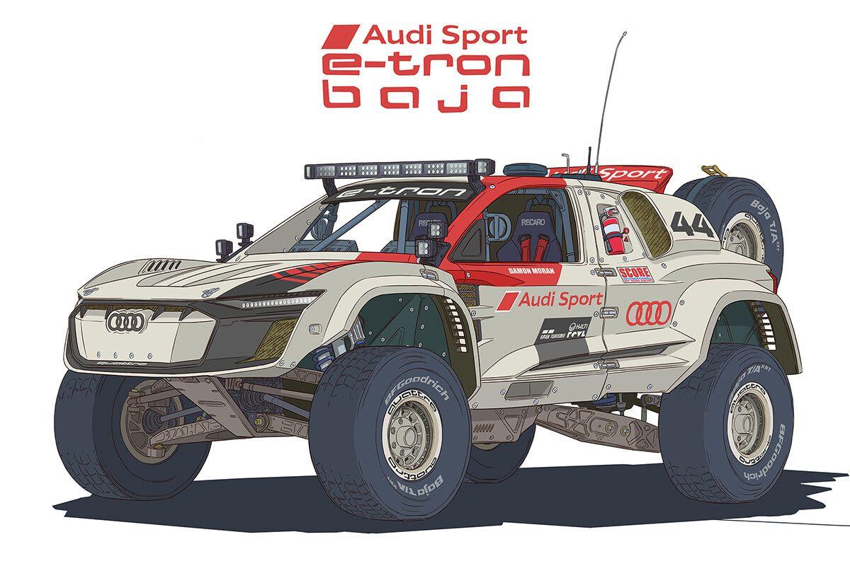 Audi Sport E Tron Quattro Baja Electric Trophy Truck By Damon Moran Trophy Truck Radio Control Cars Trucks Audi