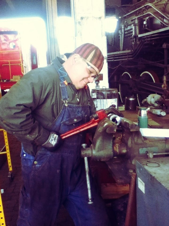 GSRM Railroad Operations Manager Terry Koller works on adding new ...