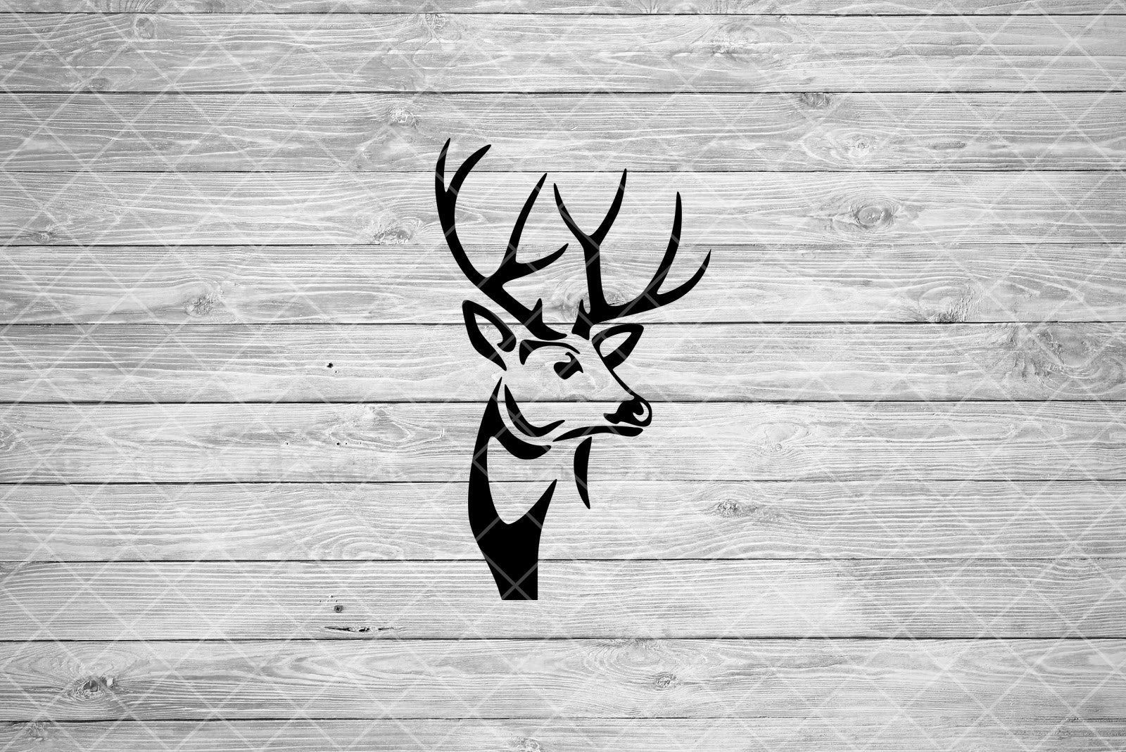 Deer SVG Hunting SVG File Buck Clipart Head Silhouette