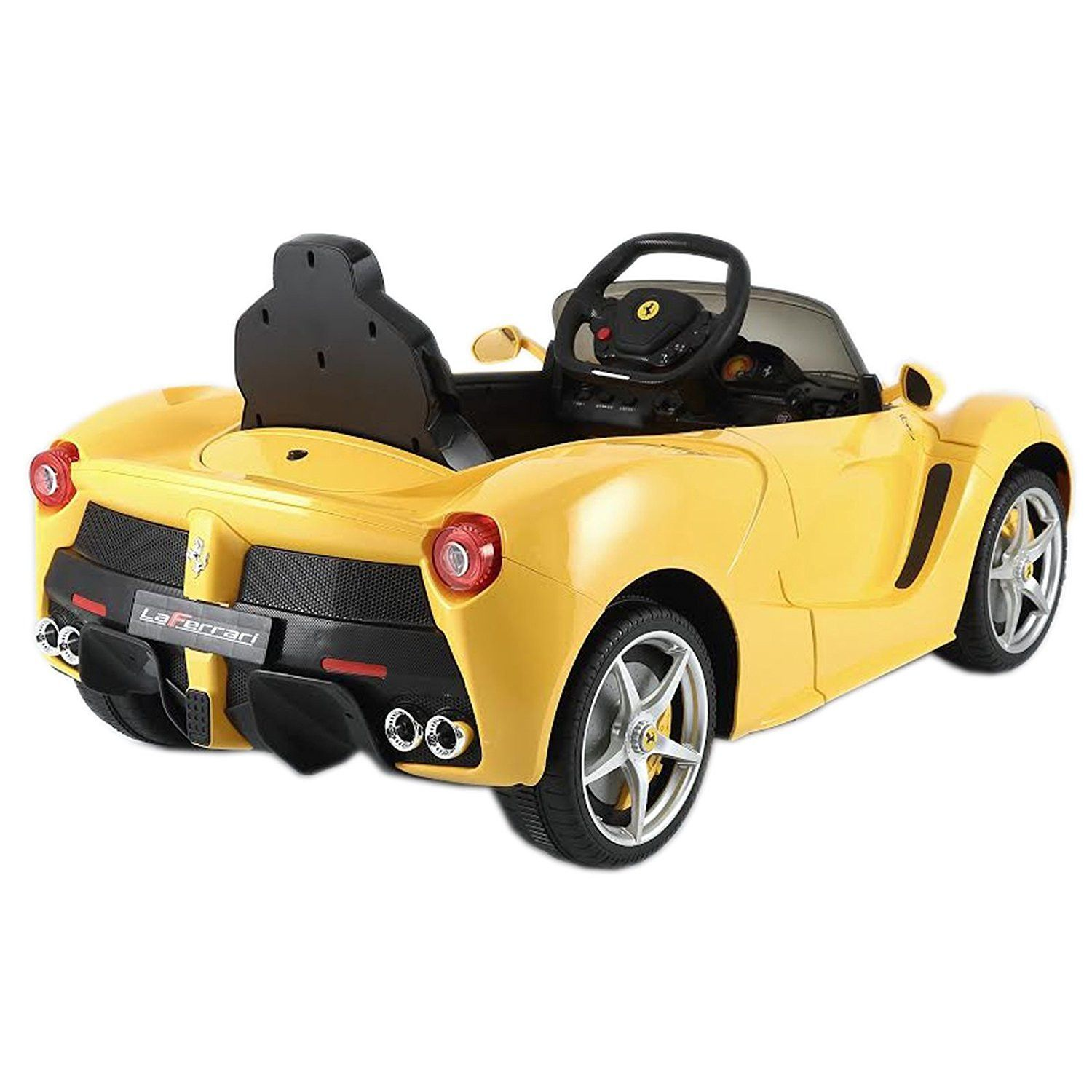 Licensed Ferrari La 12v Ride On Car Yellow Toy Cars For Kids One Seater Car Classic Cars