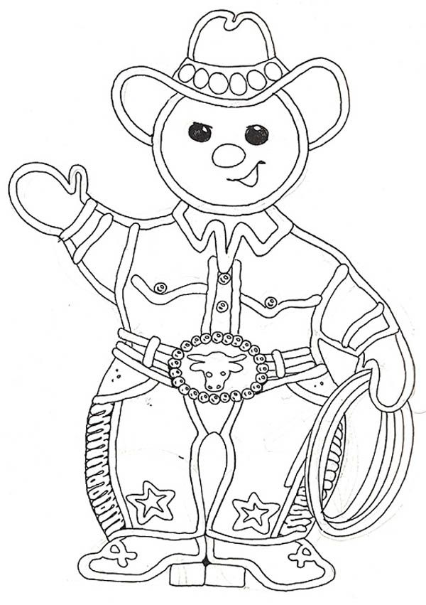 The Gingerbread Cowboy Coloring Page Gingerbread Man Coloring