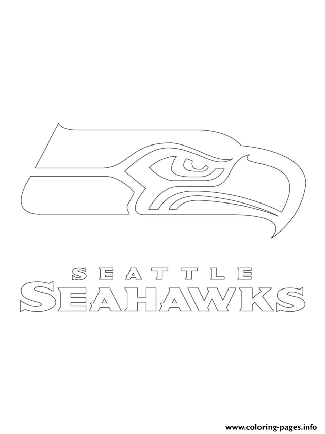 Print Seattle Seahawks Logo Football Sport Coloring Pages Seattle Seahawks Seattle Seahawks Logo Seahawks