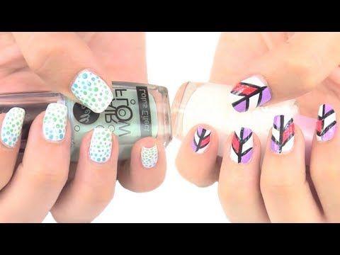 diseños de uñas fáciles y rápidos quickly and easy nail