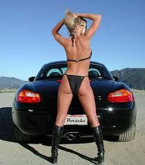 Porsche cars and nude girls