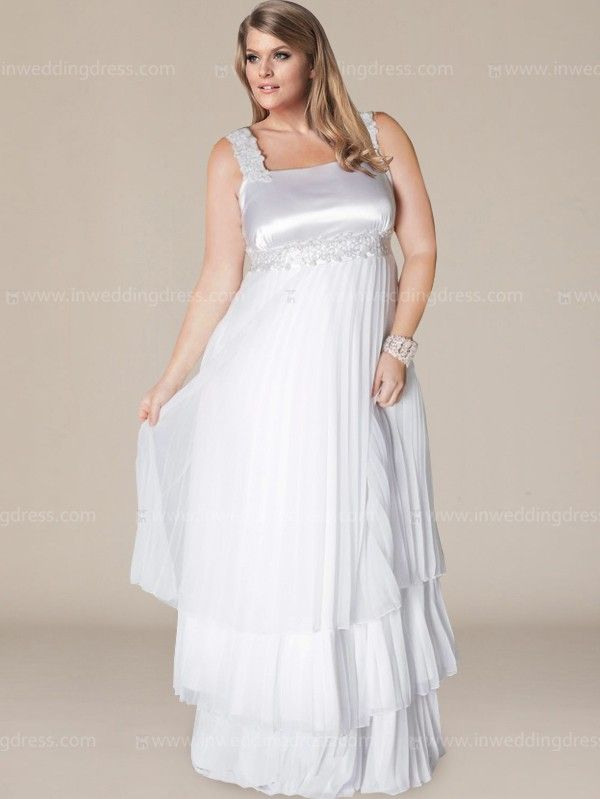 Empire Plus Size Wedding Gown With Tiers Ps102 Plus Size Wedding Gowns Plus Size Bridal Dresses Dresses