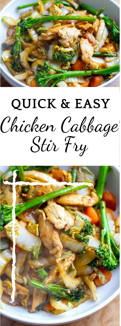 Quick & Easy Chicken Cabbage Stir Fry #healthyfood #ketofood images