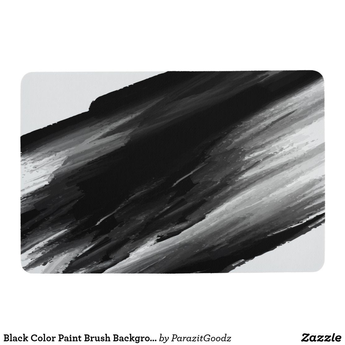 Black Color Paint Brush Background Floor Mat Zazzle Com In 2020 Paint Colors Floor Mats Paint Brushes