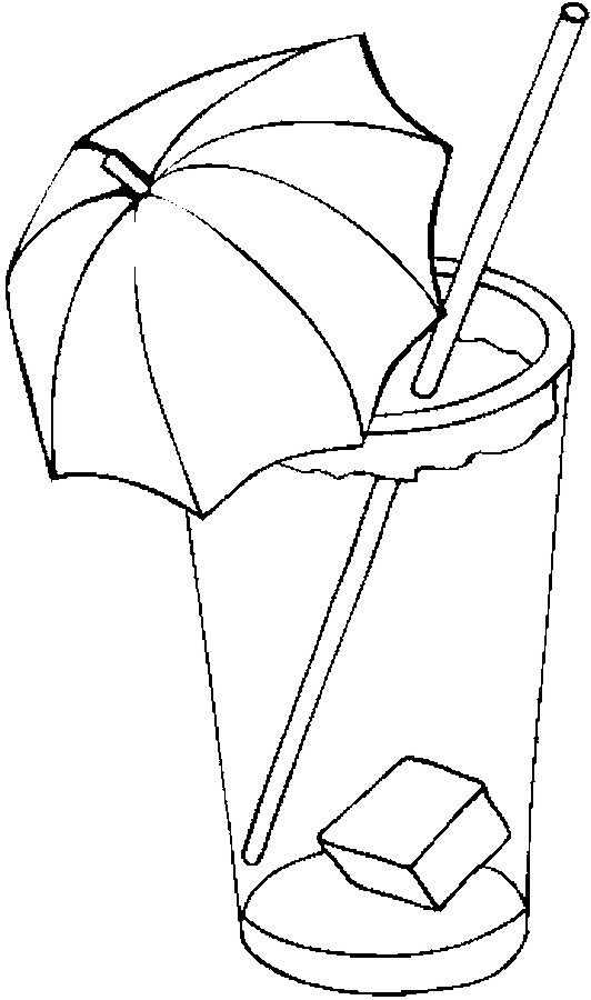 iced tea drawing iced tea 4 coloring page
