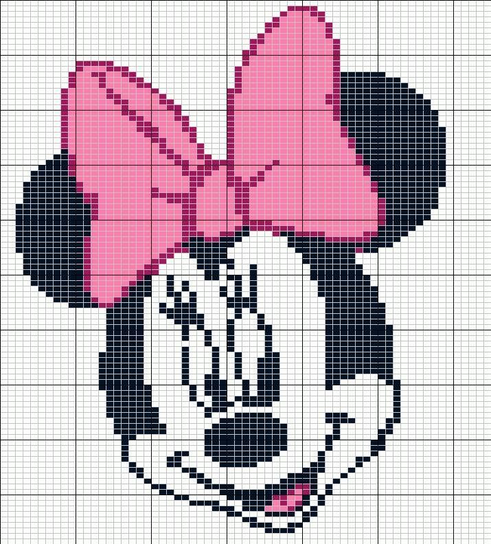 Resultado De Imagen Para Minnie Mouse Knitting Pattern Punto Cruz