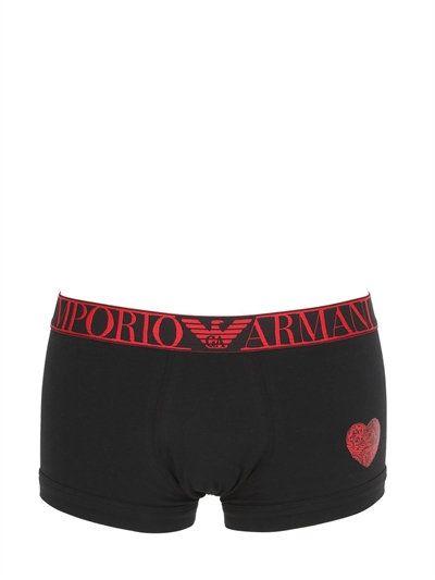 emporio armani valentines stretch jersey boxer briefs black emporioarmani cloth underwear - Valentines Boxer Briefs