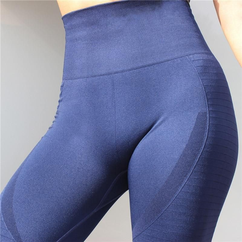b5648e227c Women Yoga Pants High Elastic Sports Seamless Leggings Tights ...
