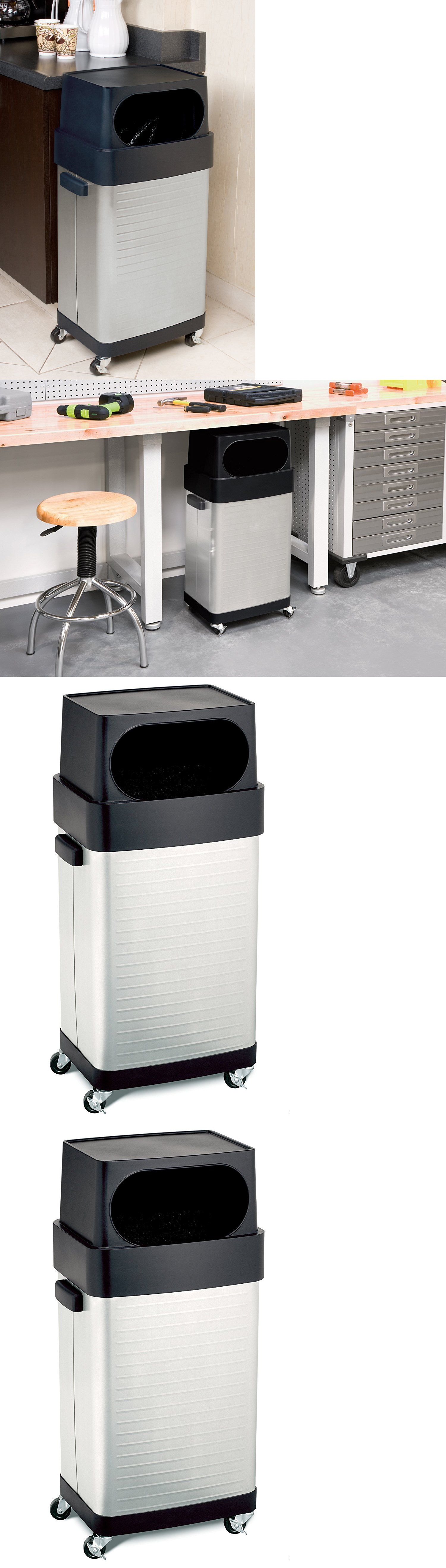 Trash Cans and Wastebaskets 20608: Rolling Trash Can Garbage Storage ...