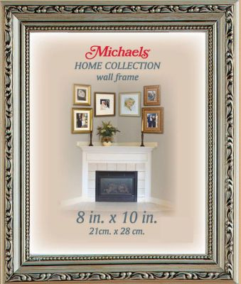 home collection silver pompeii frame could work for framing wedding pictures if its not too silver - Michaels Custom Framing Cost