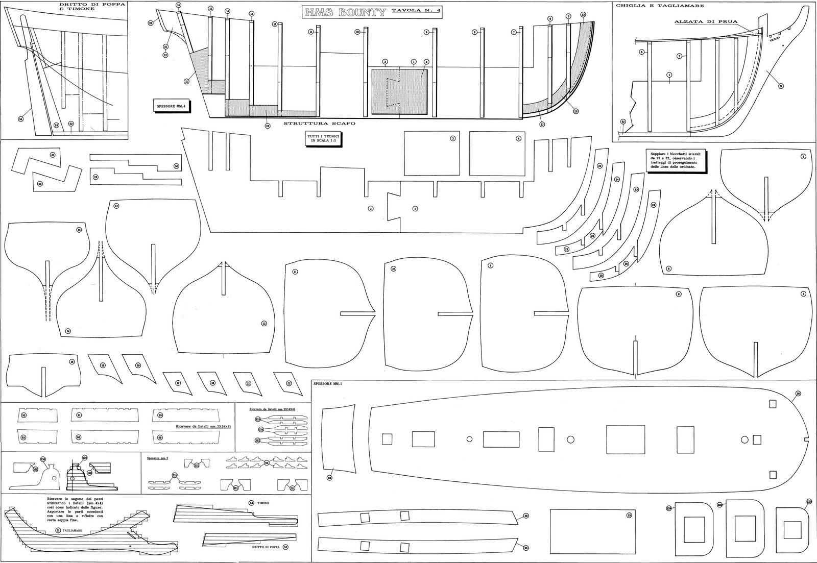 marins sur le bahut du mort Plan Bounty  maquette  Pinterest ~ Plan Maquette Avion Bois Gratuit