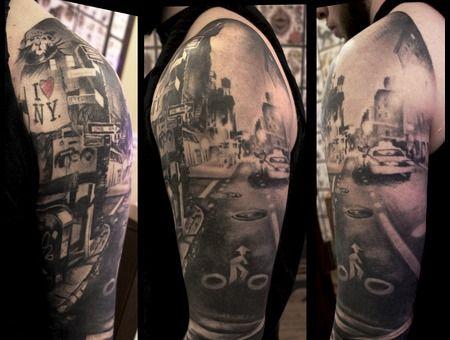Graffiti Nyc Sleeve New York Tattoo Nyc Tattoo Cool Tattoos
