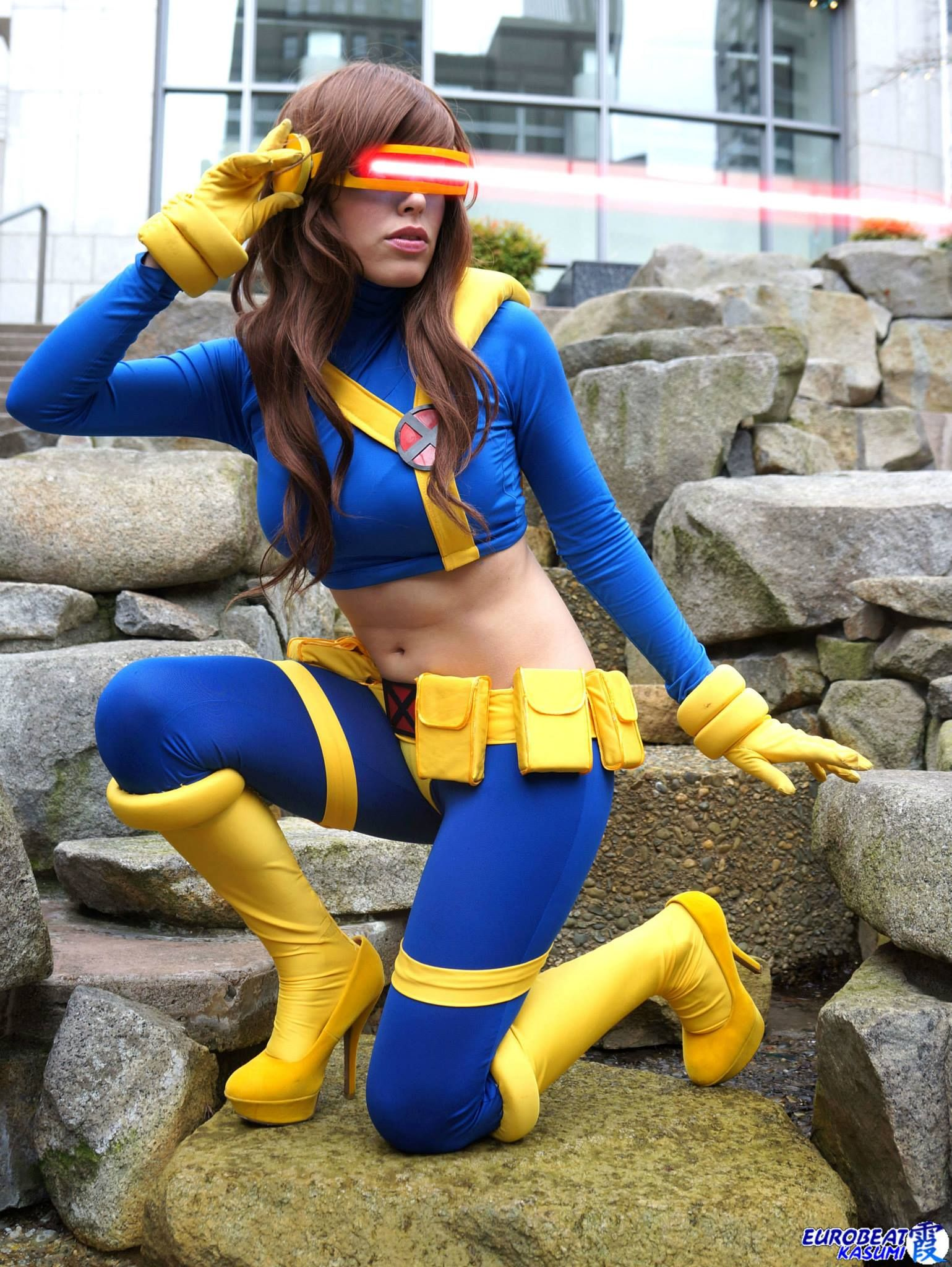 Cyclops (Genderbent) from X-Men Cosplayer: Nadyasonika Photographer: Eurobeat Kasumi Photography PShopping: Ithlia Source: Eurobeat Kasumi Photography via Facebook