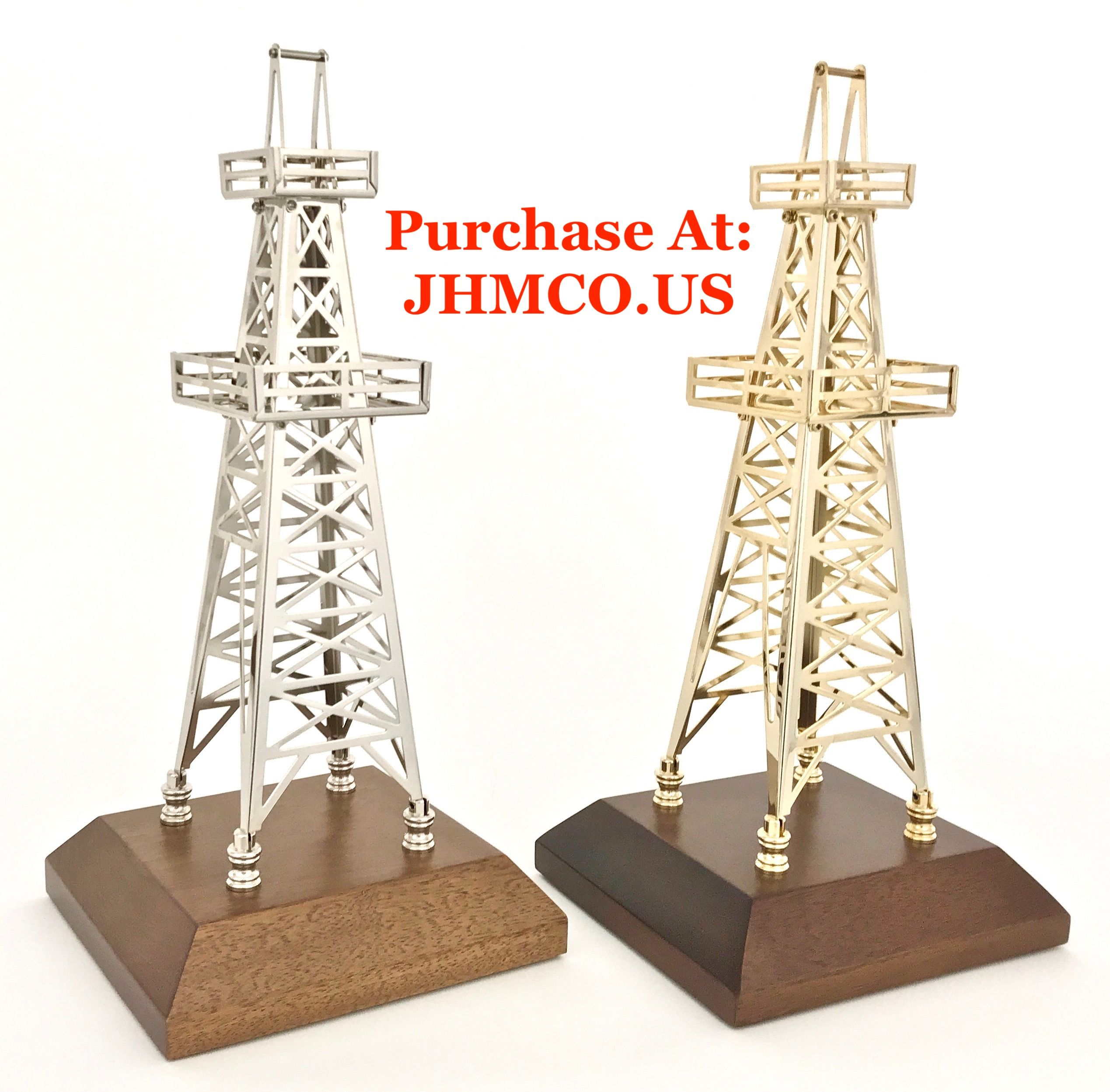 oilfield oil rig model derricks make wonderful oil and gas safety awards or the perfect christmas gift for an oilfield worker