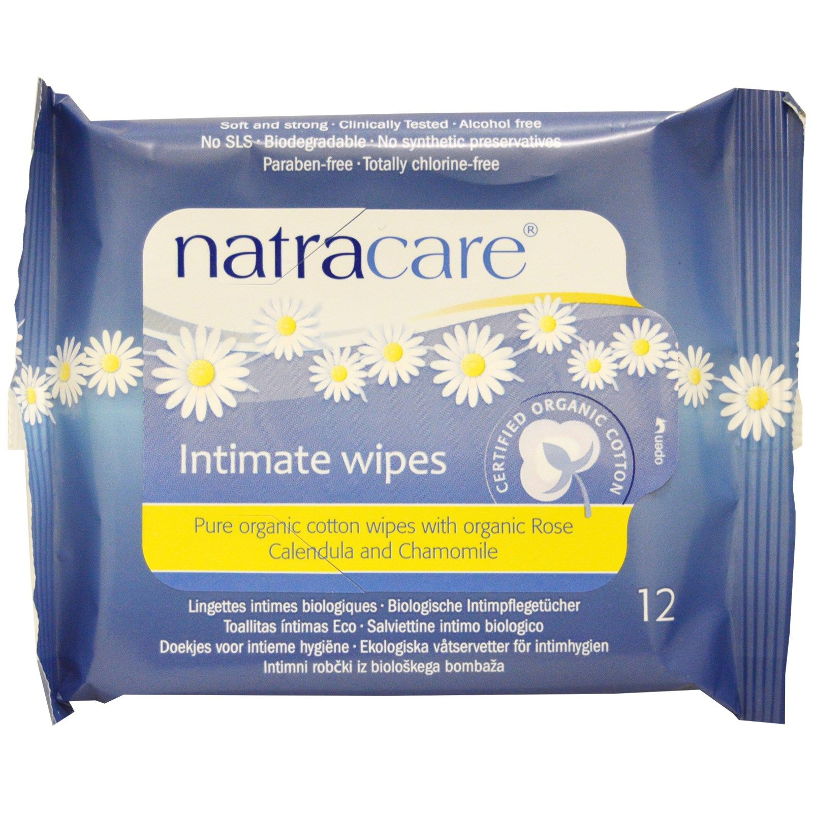 Natracare Certified Organic Cotton Intimate Wipes 12 ...