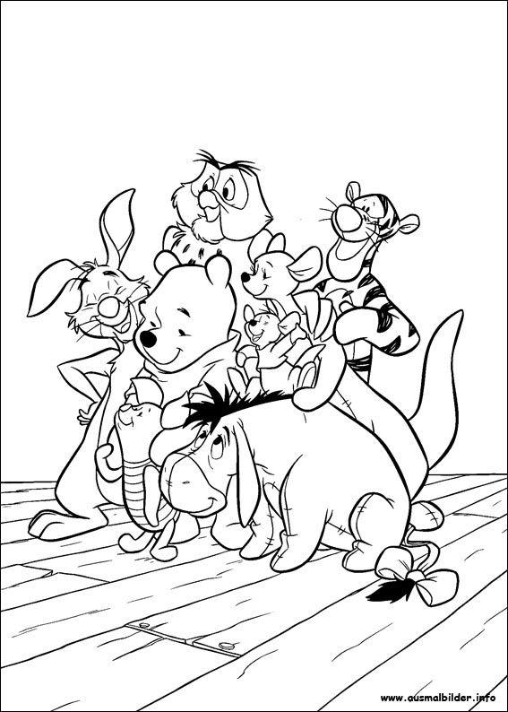 Winnie Puuh malvorlagen   Cartoon coloring pages, Disney ...