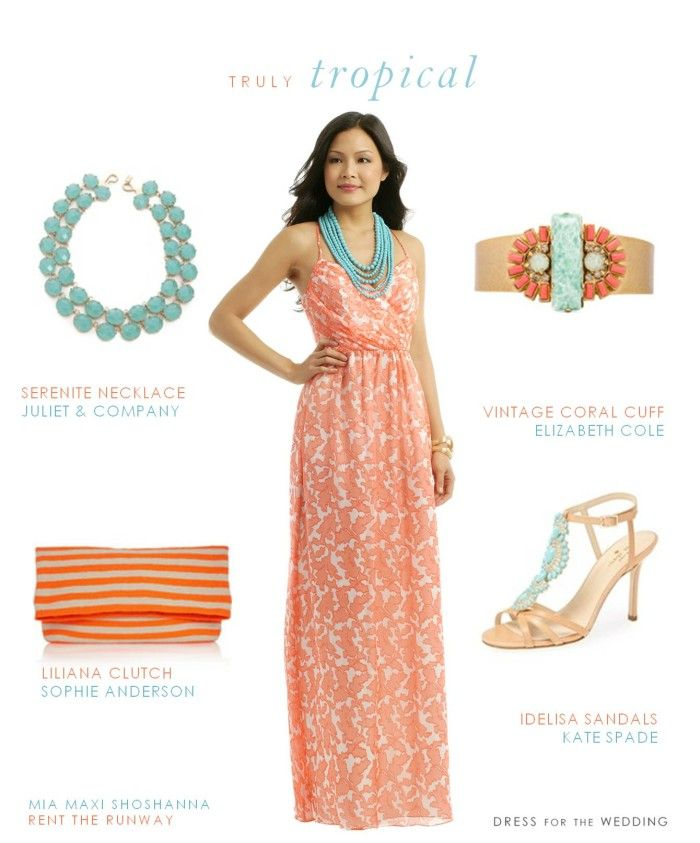 Coral Printed Maxi Dress | Summer wedding guests and Summer weddings