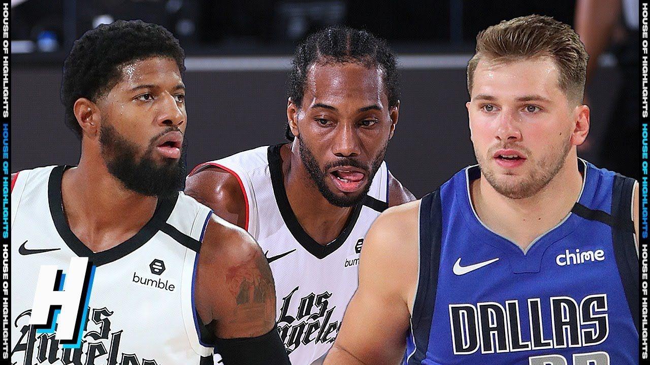Los Angeles Clippers Vs Dallas Mavericks Full Game 3 Highlights Augu In 2020 Los Angeles Clippers Dallas Mavericks Tank Man