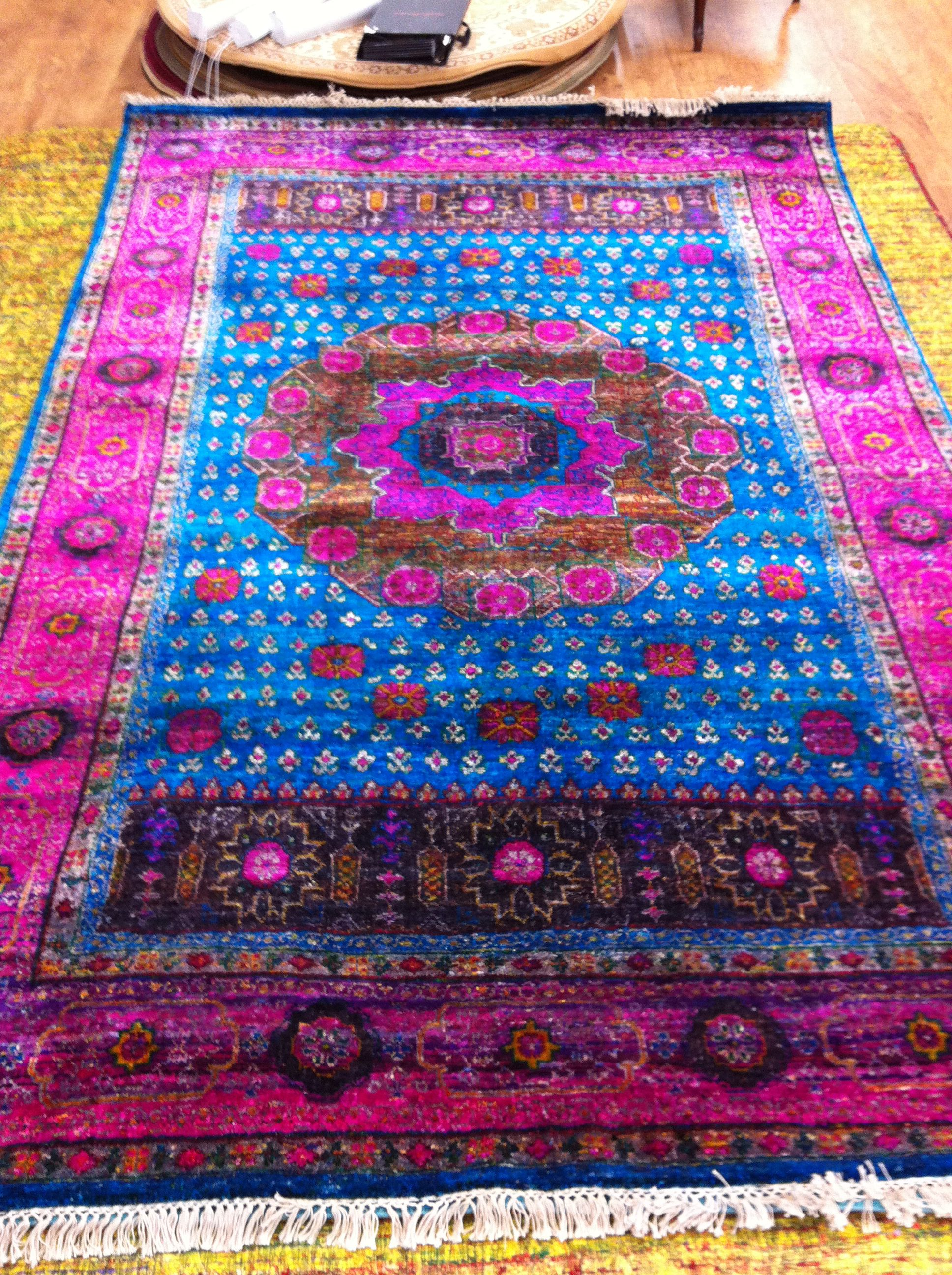 Hand Knotted Sari Silk Rug Now In 6x9 Rugs Silk Rug Teal Rooms