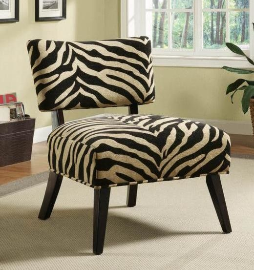 Best Zebra Fabric Accent Chair Finished In A Funky And Modern 400 x 300