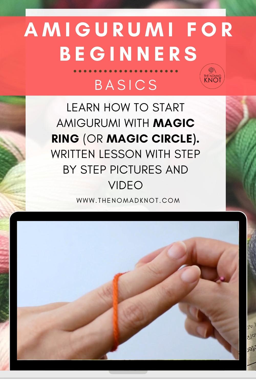 Magic Ring | Amigurumi magic circle | How to do Magic ring crochet | How to start