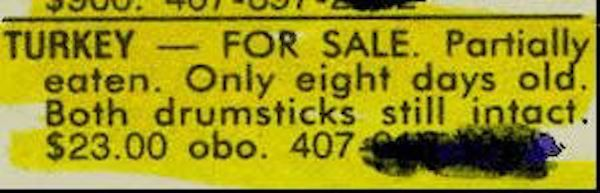 Image result for funny classified ads