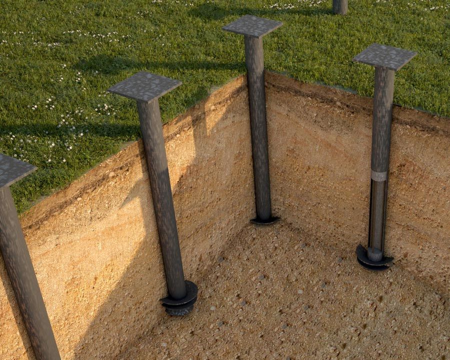 Screw piles | home design | House design, Home, Foundation
