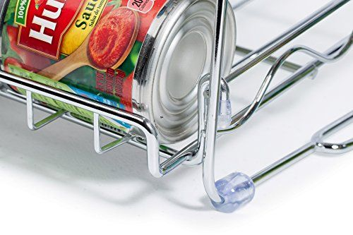 Stackable Can Rack Organizer, Storage for 36 cans - Great for the Pantry Shelf, Kitchen Cabinet or Counter-top. Stack Another Set on Top to Double Your Storage Capacity. (Chrome Finish) #countertop