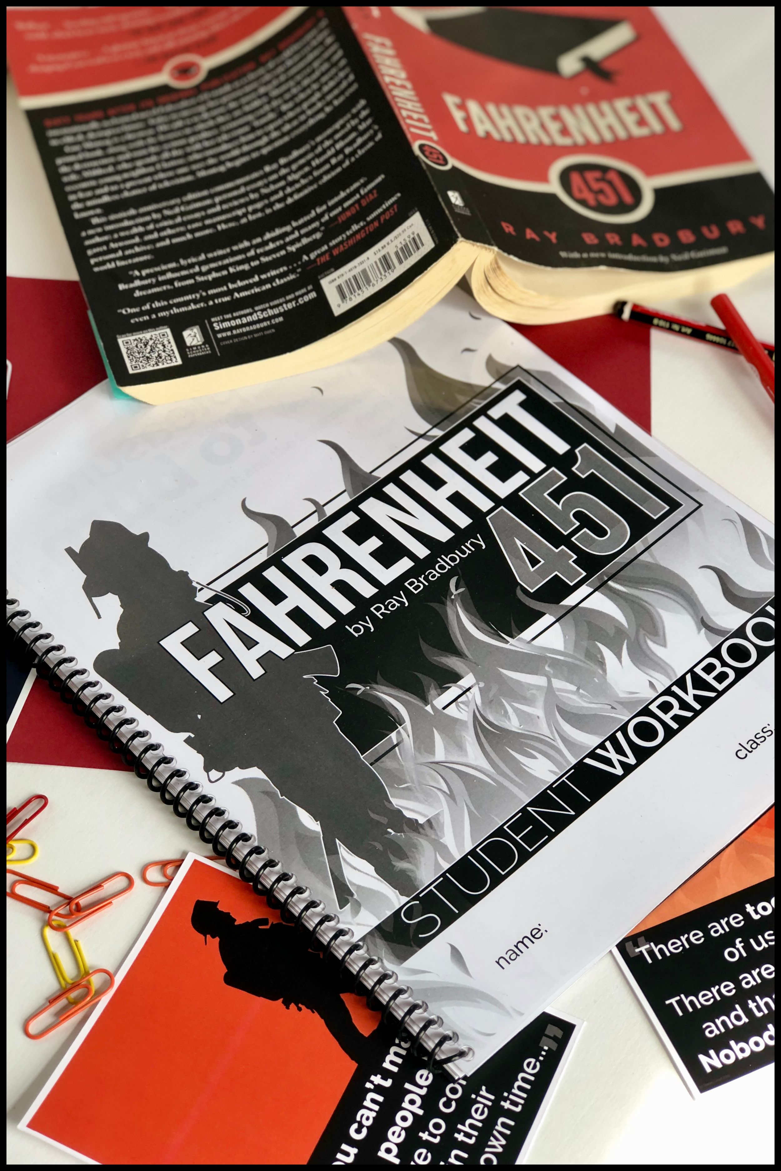 Fahrenheit 451 By Ray Bradbury Student Workbooks
