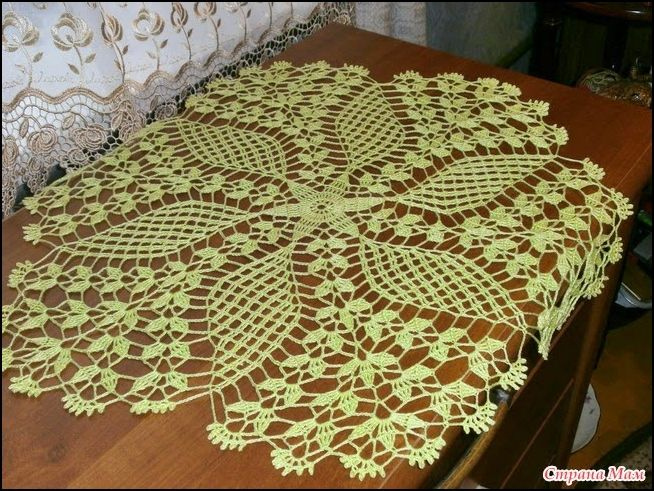 Tapete o carpeta tejida a crochet con sus diagramas - Patrones tapetes ganchillo ...