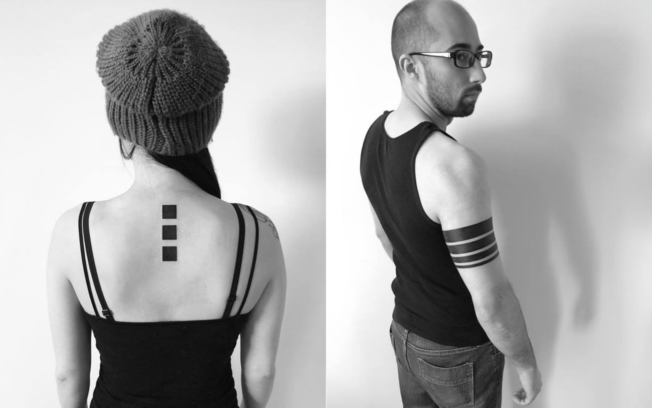3 squares and stripe tattoos by ben volt 2Spirit Tattoo